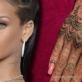 Rihanna - tatuaż na ręku