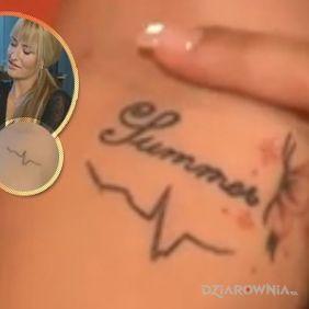 Sarah Connor - tatuaż