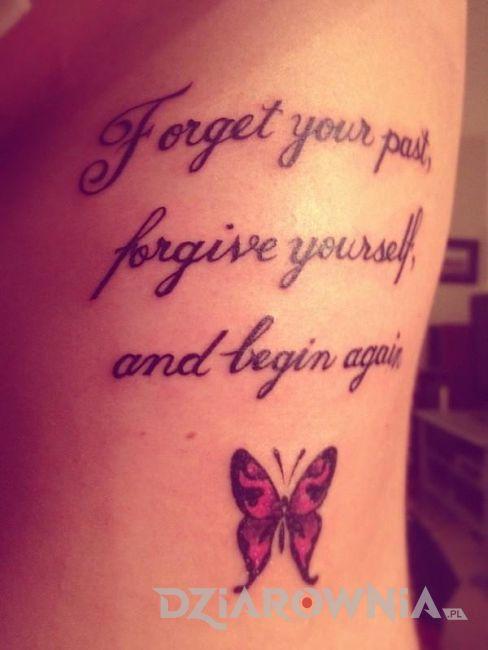 Zapomnij o swojej przeszłości, wybacz samemu sobie i zacznij od początku