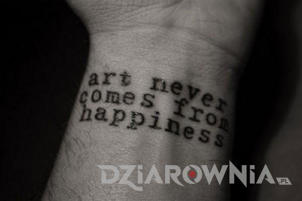 Sztuka nigdy nie pochodzi ze szczęścia