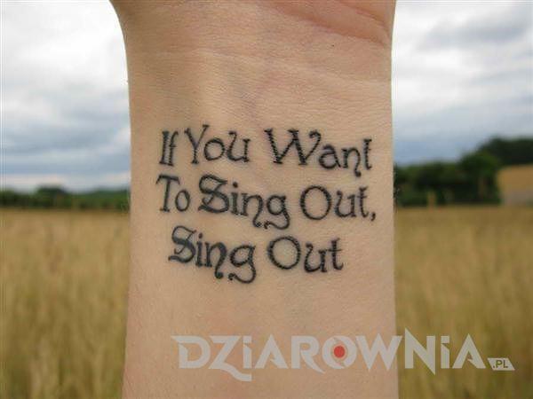 Jeśli chcesz śpiewać, śpiewaj