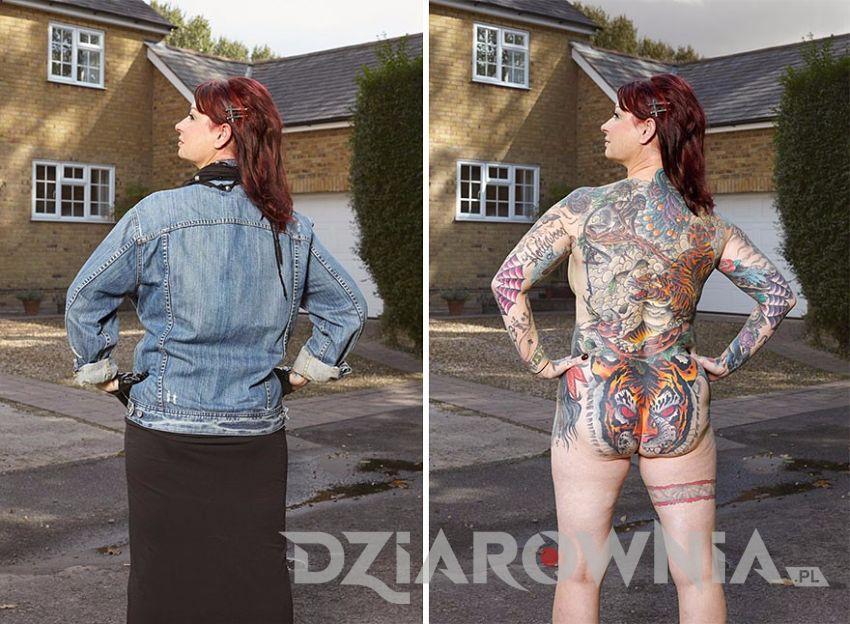 Kobieta z tatuażami