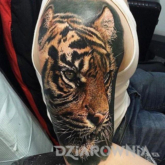 Realistyczny tygrys