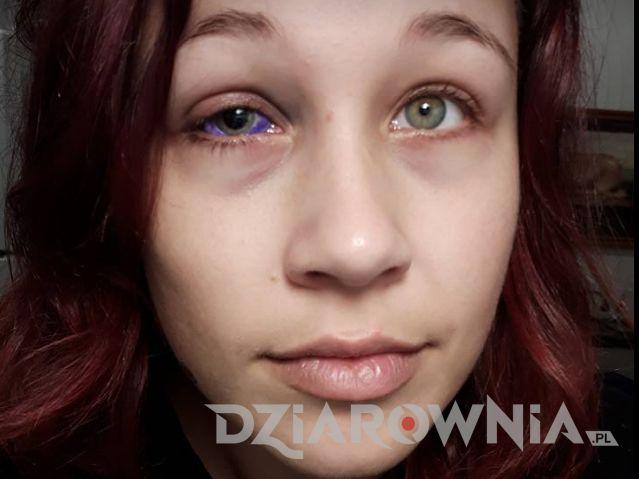 Tatuaż Fioletowe oko