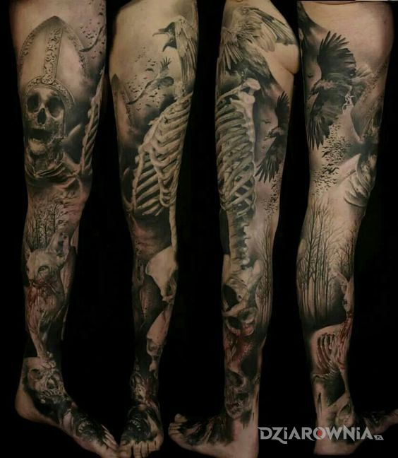 Tatuaż martwy papież - realistyczne