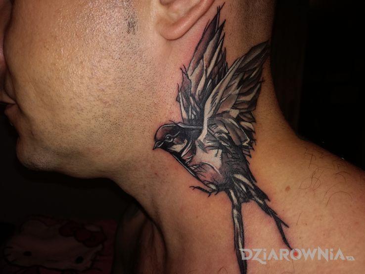 Tatuaż Jaskółka Autor Bryan666 Dziarowniapl