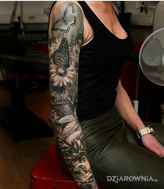 Tatuaż Motyle Motylki Autor Hermetyczny Styl Dziarowniapl
