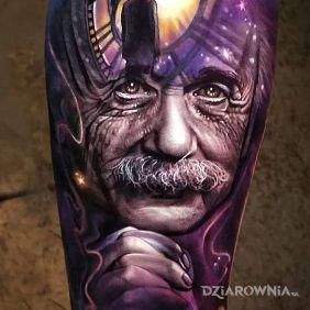 Tatuaże 3D, albert einstein, dziara dla mężczyzn
