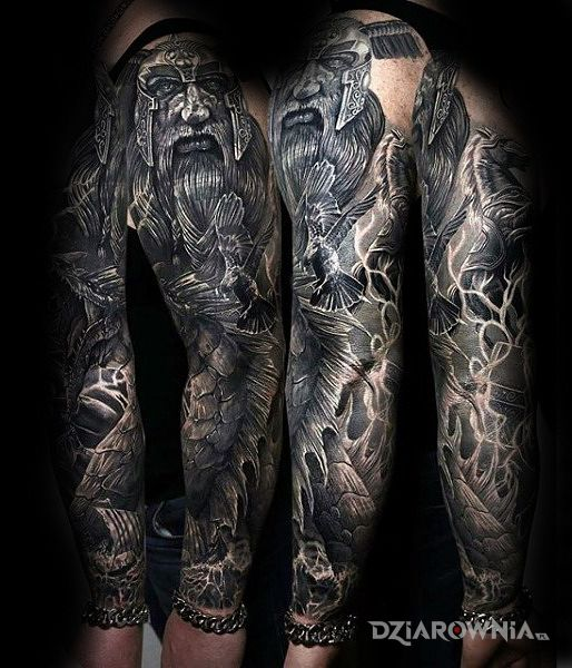 Tatuaż wojownik - 3D