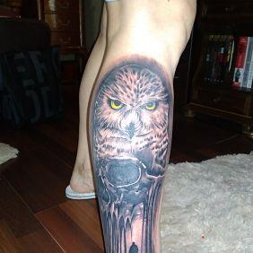 Tatuaże zwierzęta, sowa, dziara dla kobiet