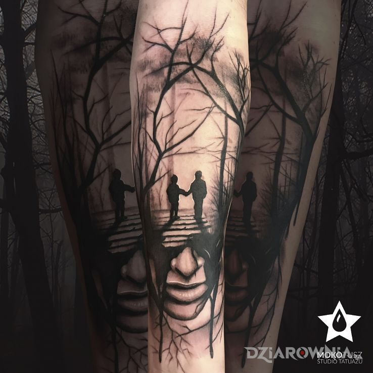 Tatuaż w listopadowym klimacie - twarze