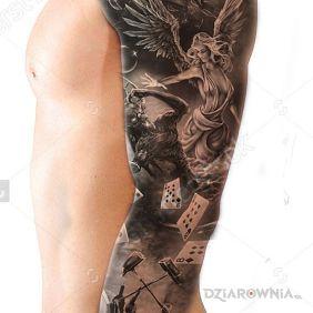 Tatuaże Anioły Wzory I Galeria Dziarowniapl