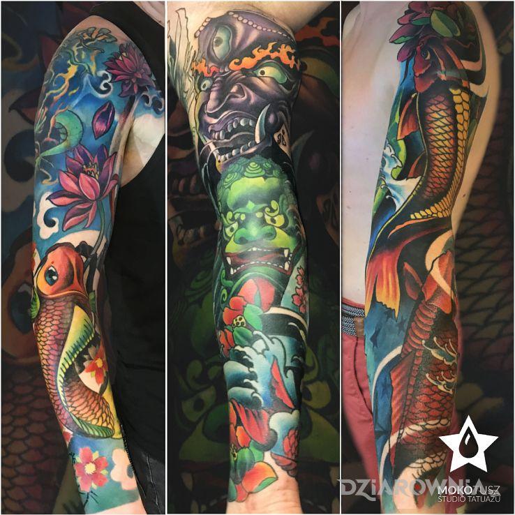 Tatuaż przedstawiamy się - rękawy