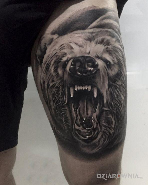 Tatuaż niedźwiedź - zwierzęta