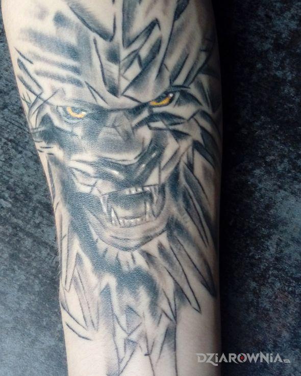 Tatuaż Lew Autor Dominik Niedźwiecki Dziarowniapl
