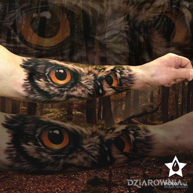 Tatuaż realistycznie i w kolorze - zwierzęta