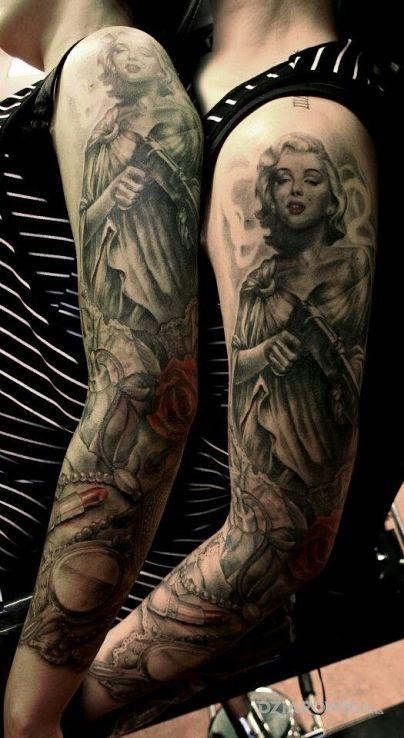 Tatuaż marilyn monroe - rękawy