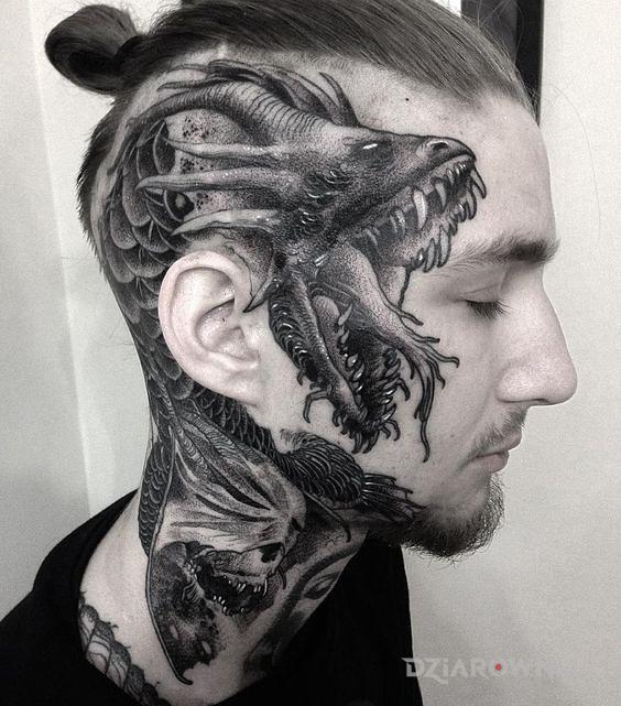Tatuaż Twarzowy Wąż Autor Pan Nikt Dziarowniapl