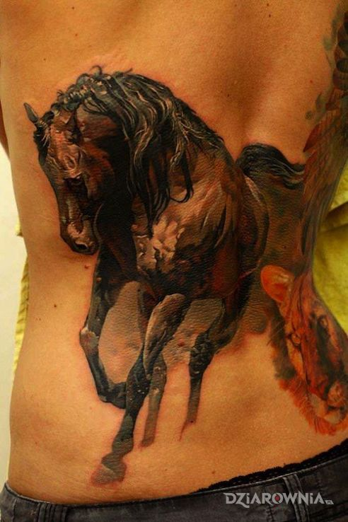 Tatuaż Koń Autor Majka Dziarowniapl