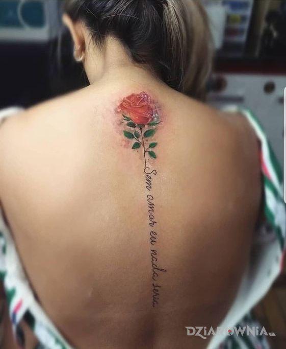 Tatuaż Róża I Napis Autor Simson123 Dziarowniapl