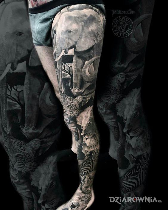 Tatuaż afrika - 3D