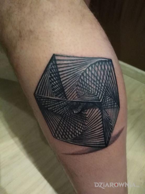 Tatuaż kostka - 3D