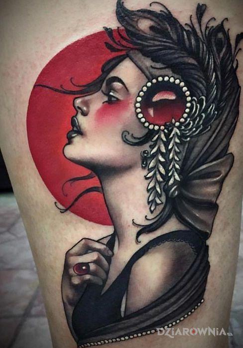 Tatuaż stylowa dziara - twarze