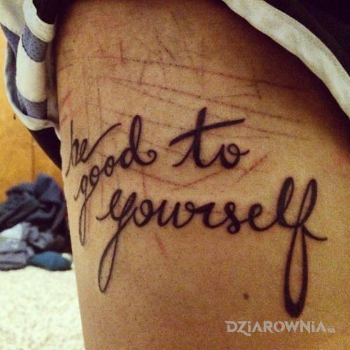 Tatuaż zastanawiające - napisy