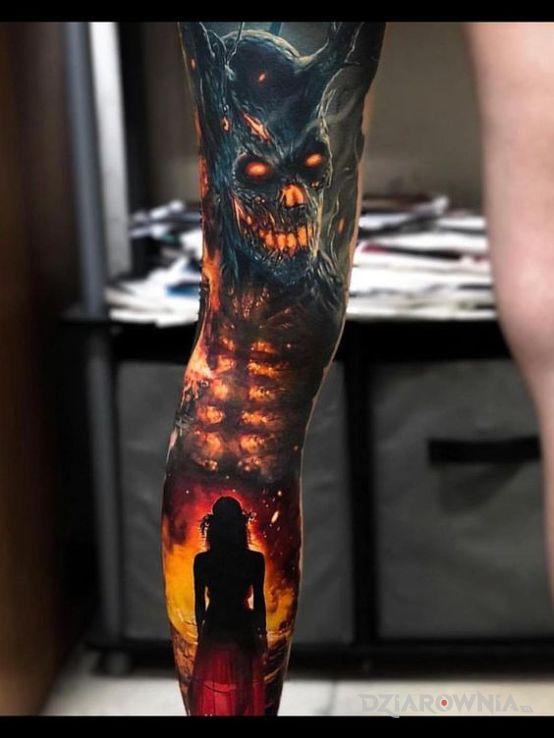 Tatuaż diabolo - 3D