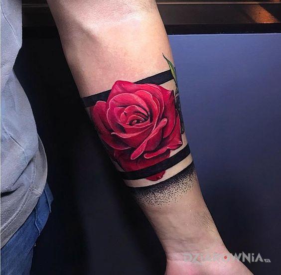 Tatuaż Róża Czerwona Róża Autor Madzia Magdalena