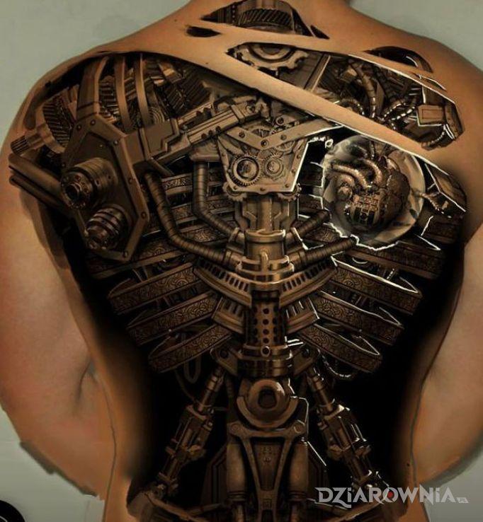 Tatuaż Mechanika Autor Maciej Ciureja Dziarowniapl