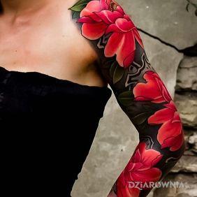 Kwiaty w kolorze czerwieni