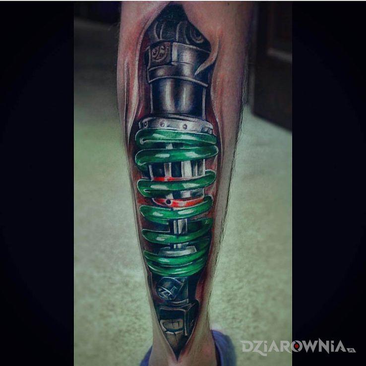 Tatuaż zielony resor - 3D