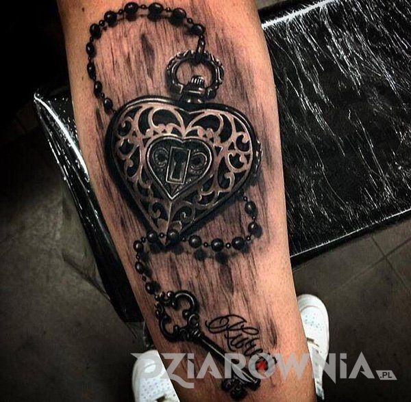 Tatuaż Serce z kluczykiem