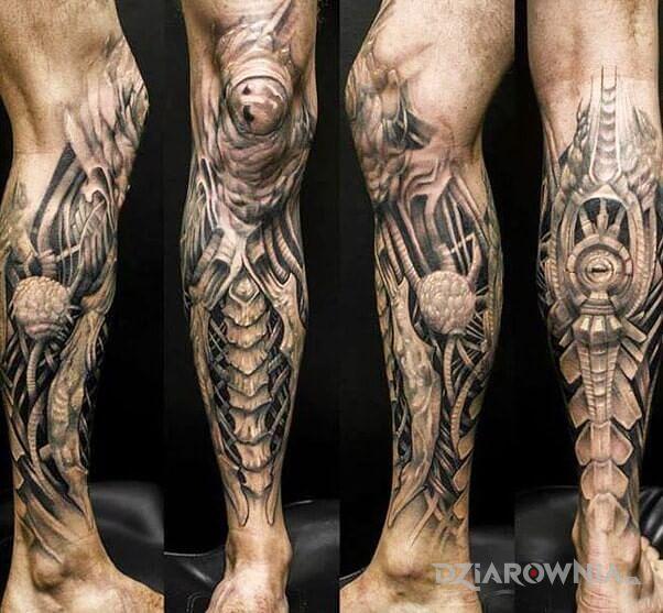 Tatuaż okablowana noga - 3D