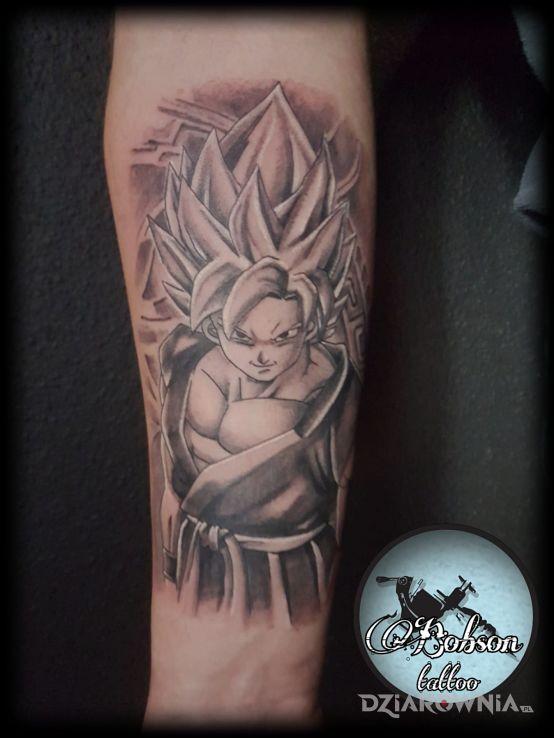 Tatuaż Dragon Ball Autor Bocian Tattoo Dziarowniapl