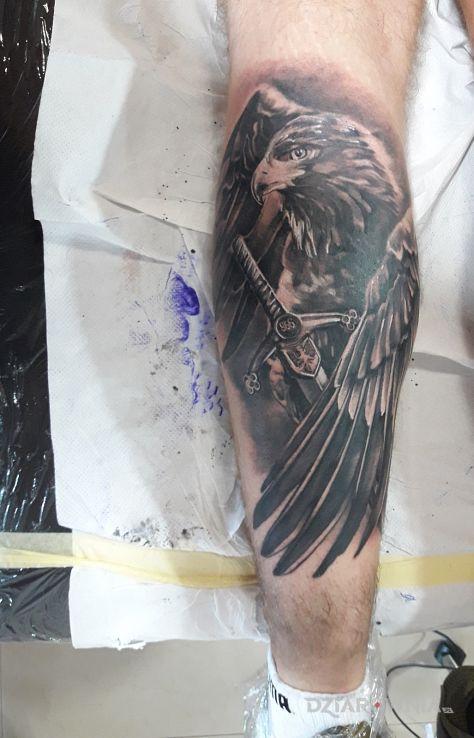 Tatuaż Orzeł Autor Adamski Dziarowniapl