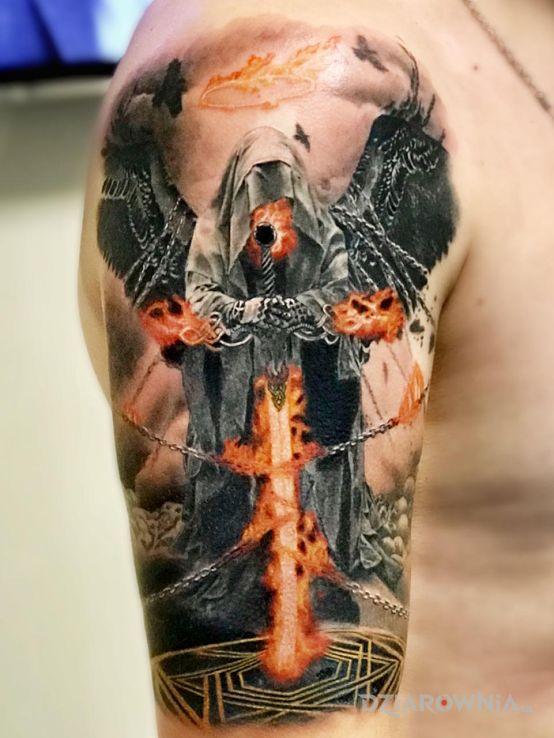 Tatuaż anioł śmierci - anioły