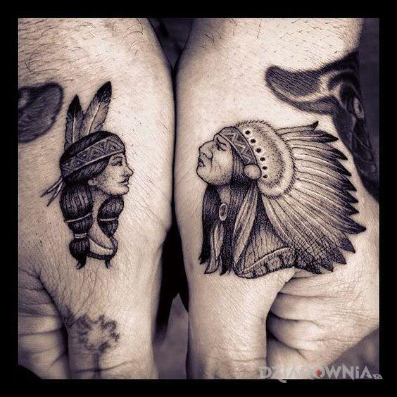 Tatuaż indianie - indiańskie