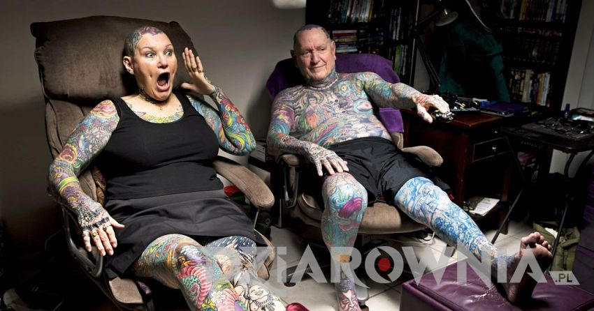 Charlotte Guttenberg i Chuck Helmke Tatuaże
