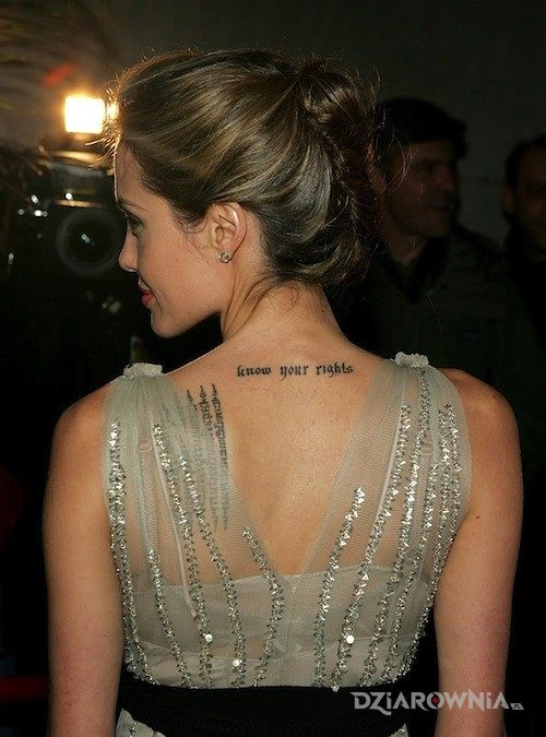 Tatuaż napis - sławnych osób