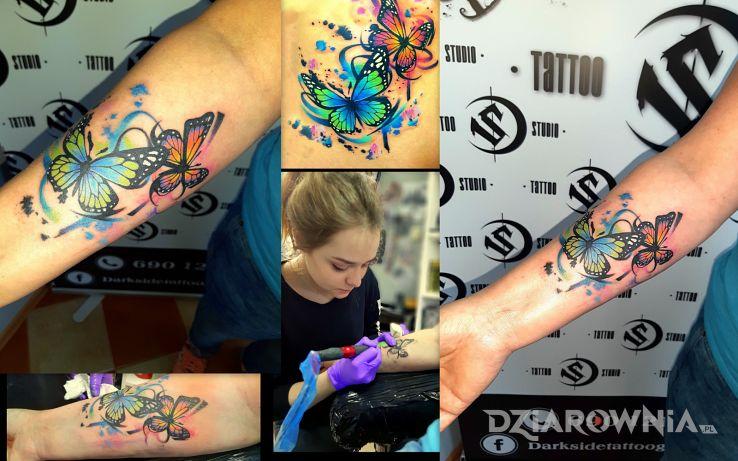 Tatuaż wotercolor motyle - motyle