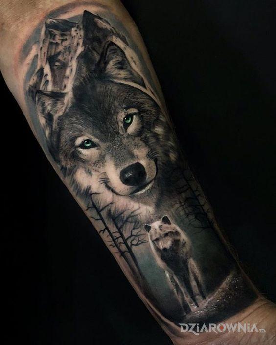 Tatuaż Uśmiechnięty Wilk Autor Jakub Baran Dziarowniapl