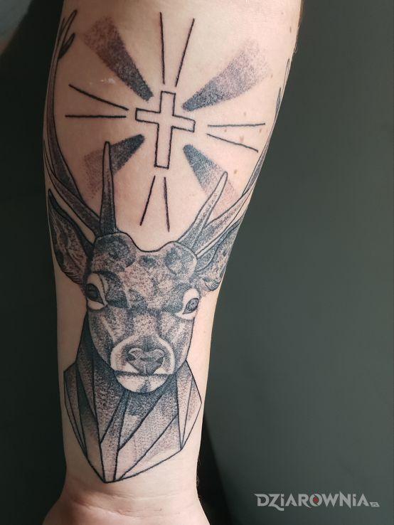 Tatuaż Jeleń Autor łoś231 Dziarowniapl
