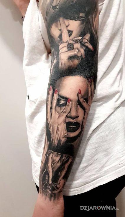 Tatuaż milczenie - realistyczne