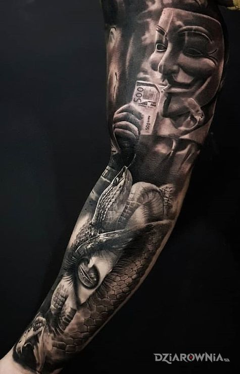 Tatuaż v jak vendetta - realistyczne