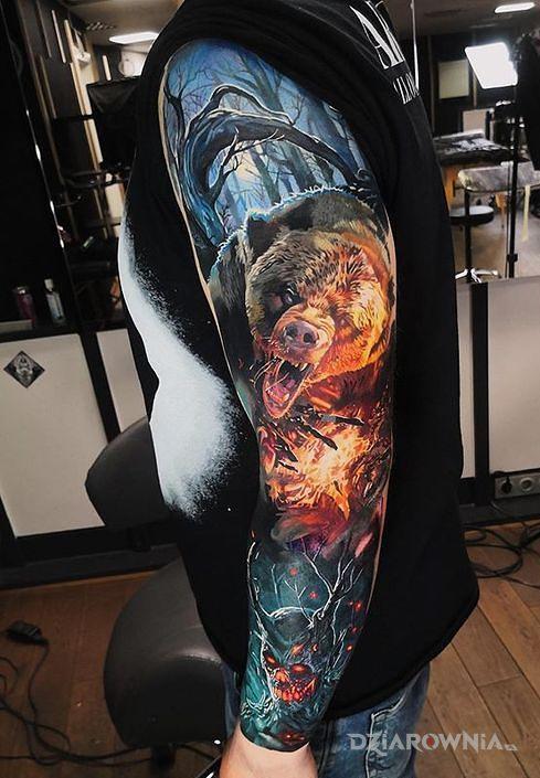 Tatuaż miś ale nie puchatek - 3D