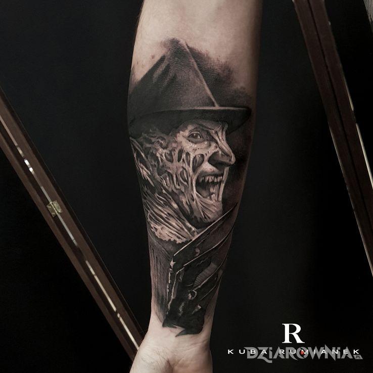 Tatuaż freddy krueger - twarze