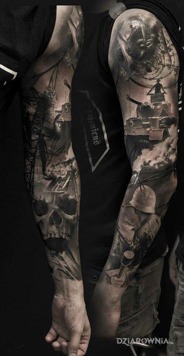 Tatuaż wojenny klimat - 3D