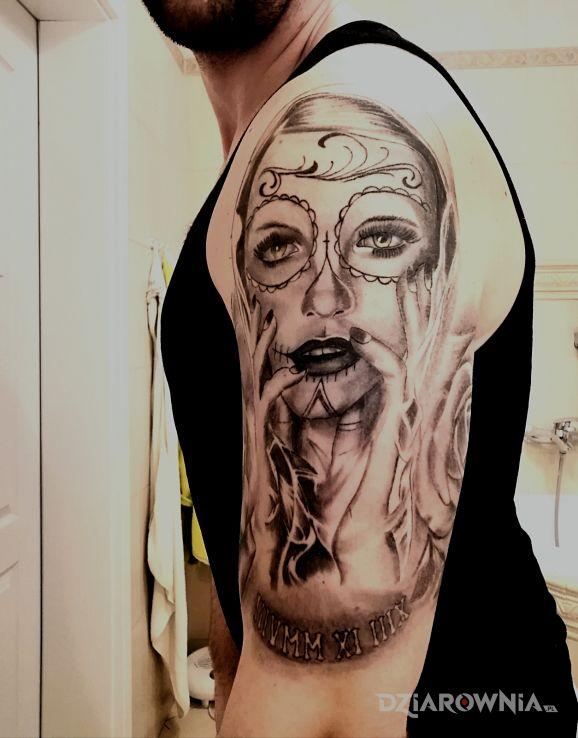 Tatuaż Santa Muerte Autor Mucha82m Dziarowniapl